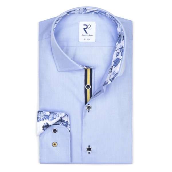 R2- Blue Fine Herringbone Shirt