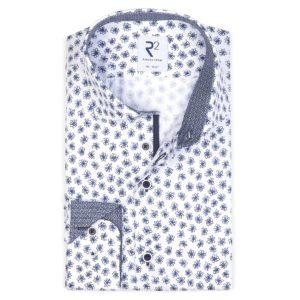 R2 - Navy / White Flower Patterned Shirt