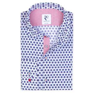 R2 – Red / Blue Flower Patterned Shirt