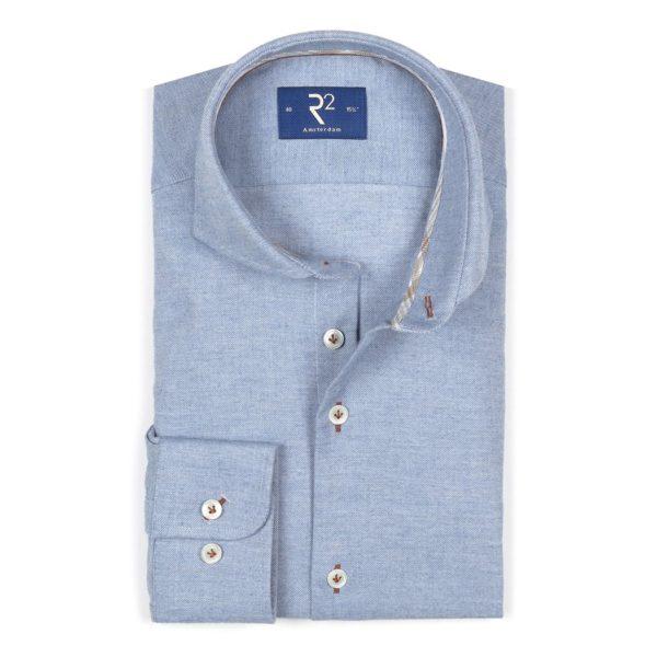 R2 - Blue Steel Cotton & Cashmere Shirt