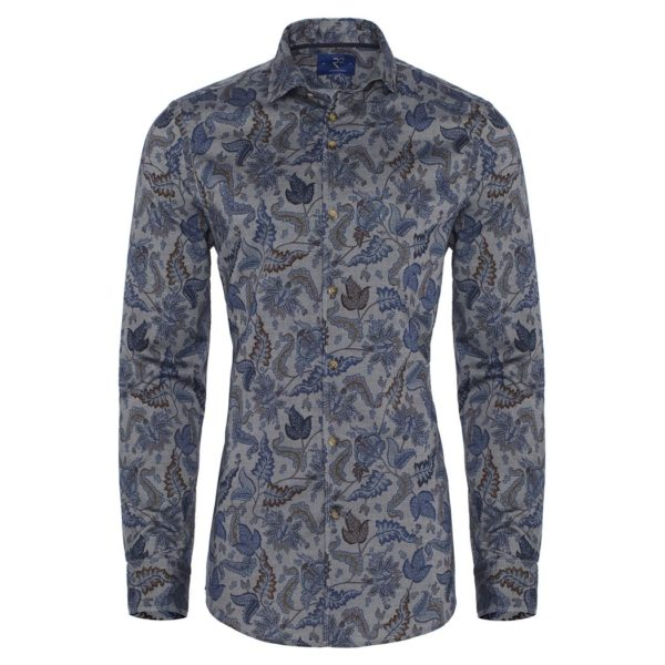R2 – Grey Paisley Shirt