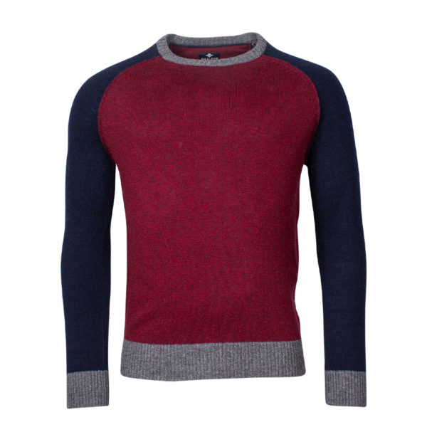 Baileys Red and Navy Jumper