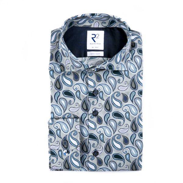 R2 - Grey Paisley Shirt