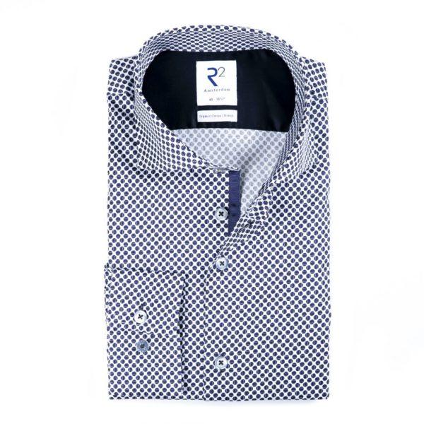 R2 - Navy Polka Dot Shirt