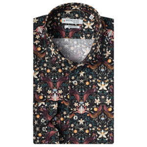 Giordano – Black Shirt With Birds