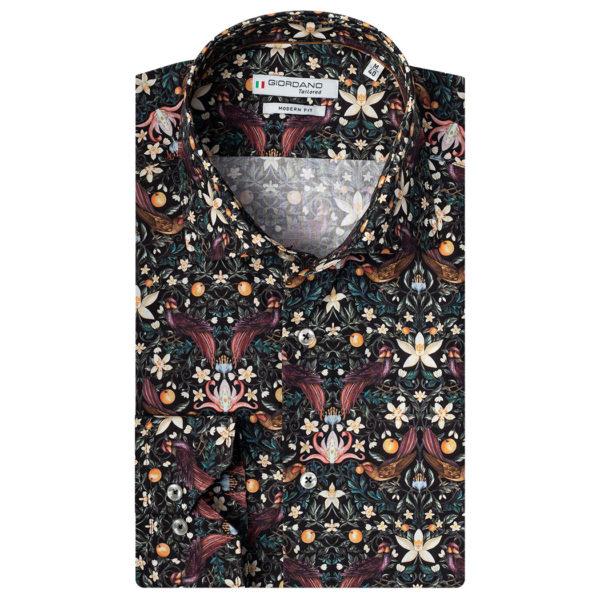 Giordano – Black Shirt With Birds